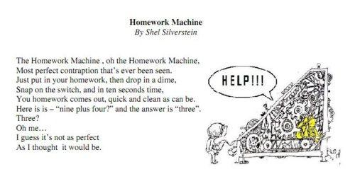 Shel silverstein homework
