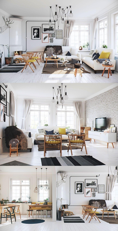 luxury scandinavian living room | Scandinavian living rooms ...