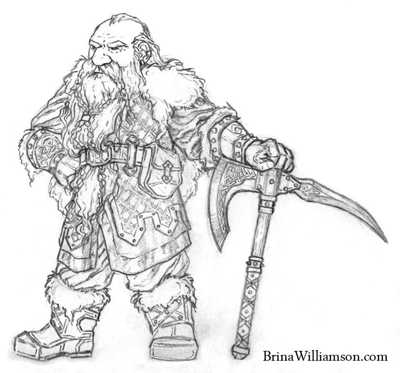 Drawn beard dwarf #3 | Flint Stonecutter | Female dwarf ...