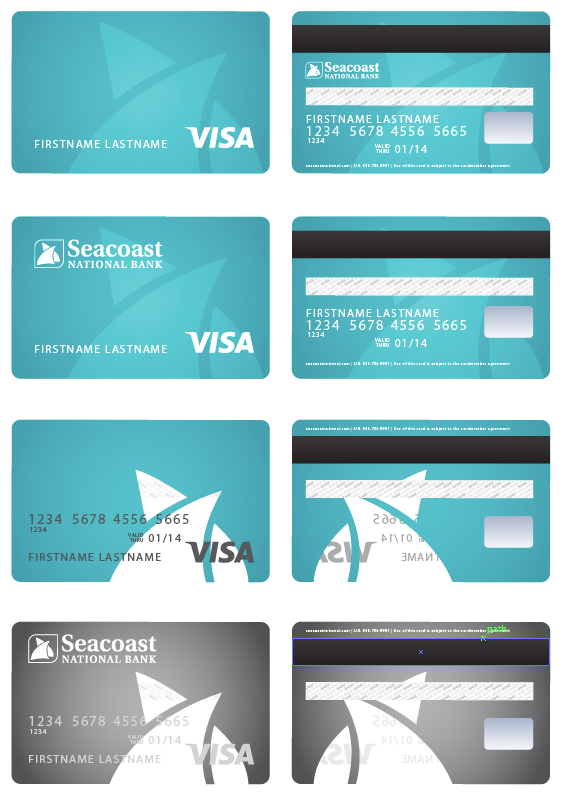 Ongoing Design For Seacoast National Bank S Simply Seacoast Banking Initiative Debit Card Design Credit Card App Credit Card Design