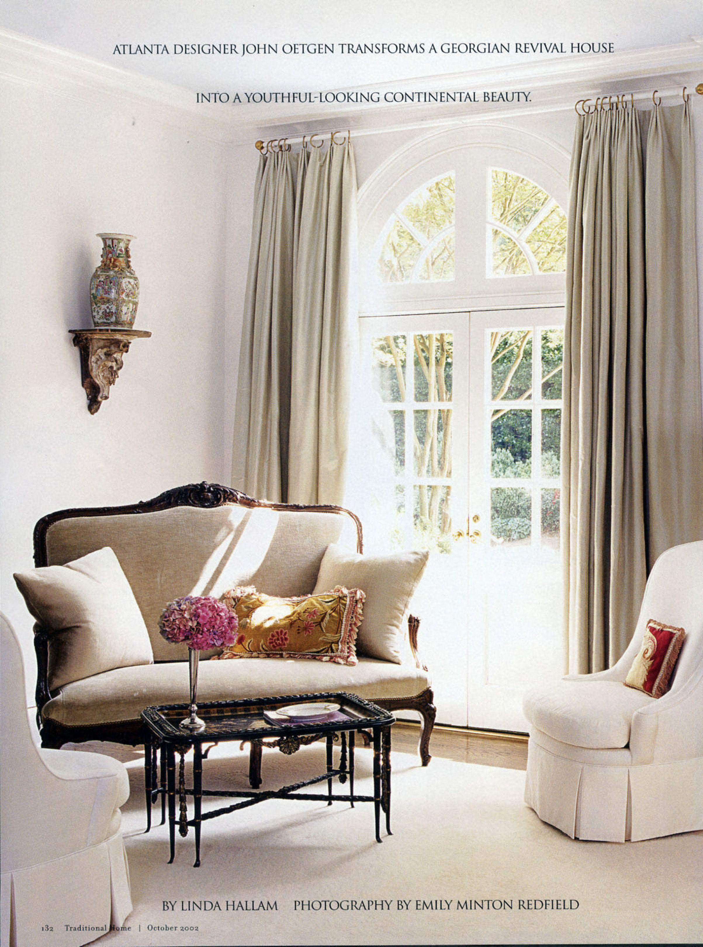 Atlanta Designer - John Oetgen Traditional Home Oct 2002 ...