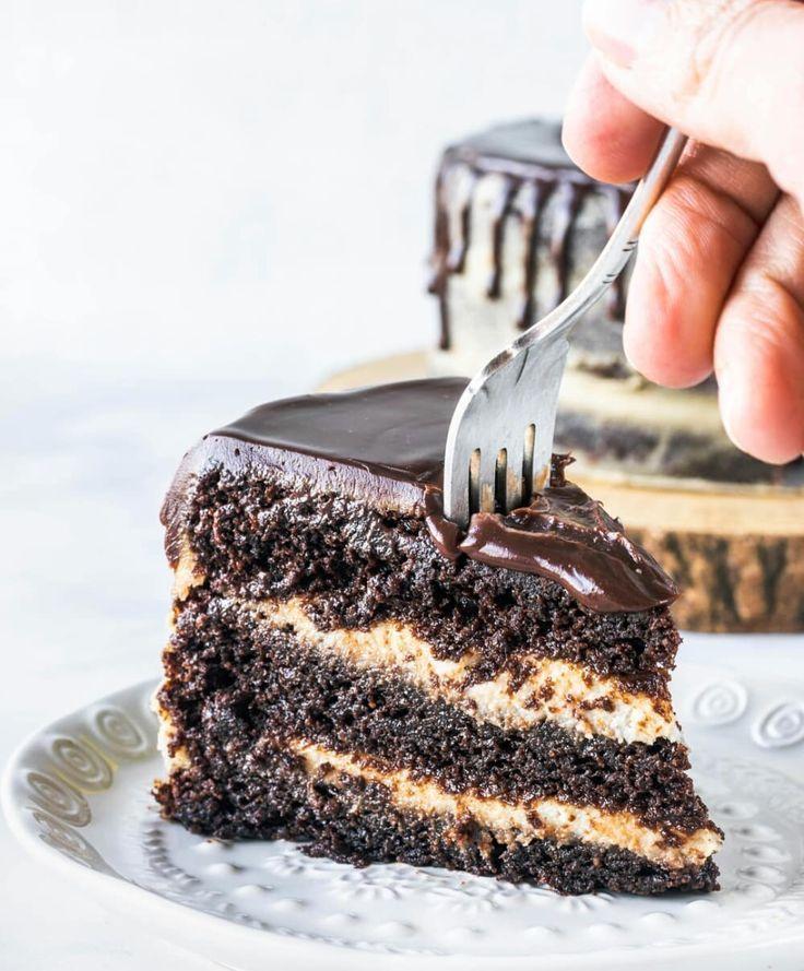 Chocolate peanut butter layer cake vegan cake recipes