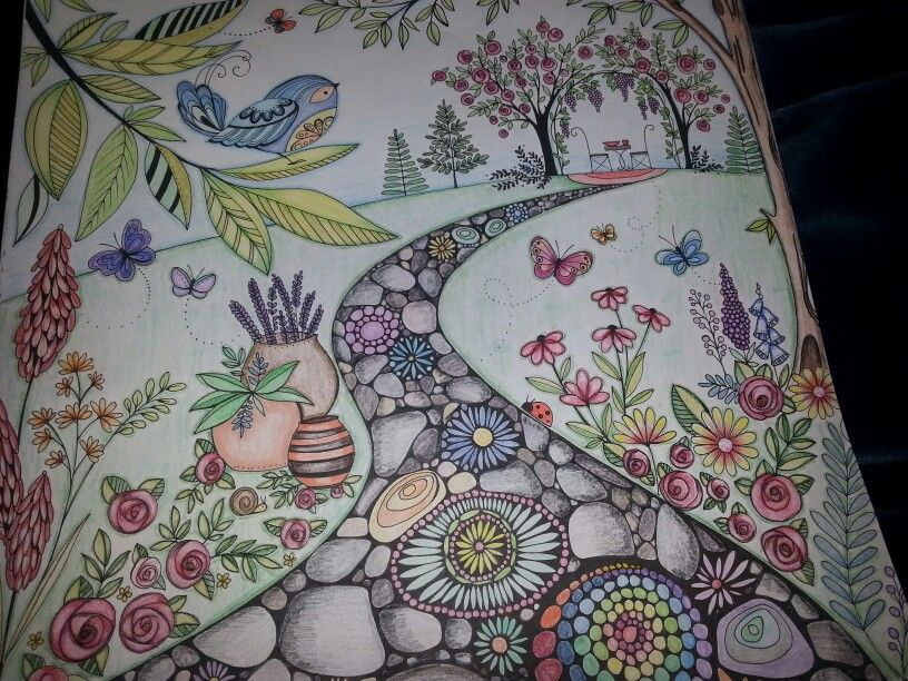 Joyous Blooms To Colour By Eleri Fowler In Prismacolors