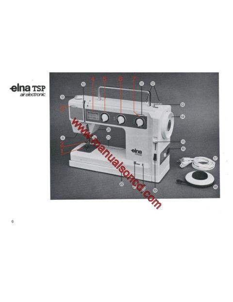 elna sewing machine instruction manual