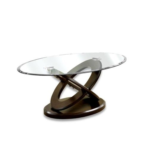 Best Furniture Of America Darbunic Glass Top Coffee Table In 640 x 480