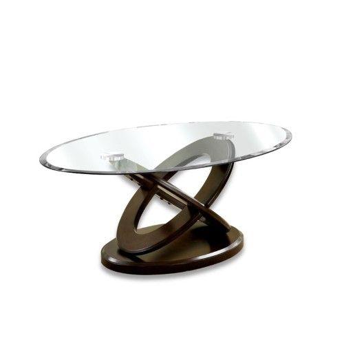 Best Furniture Of America Darbunic Glass Top Coffee Table In 400 x 300