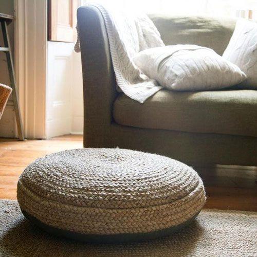 pouf rond en chanvre naturel fait main nkuku pouf rond. Black Bedroom Furniture Sets. Home Design Ideas