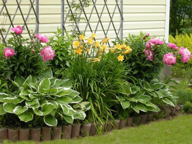 Yard Landscaping And Backyard Designs With Flower Beds   Lots Of Different Design  Ideas