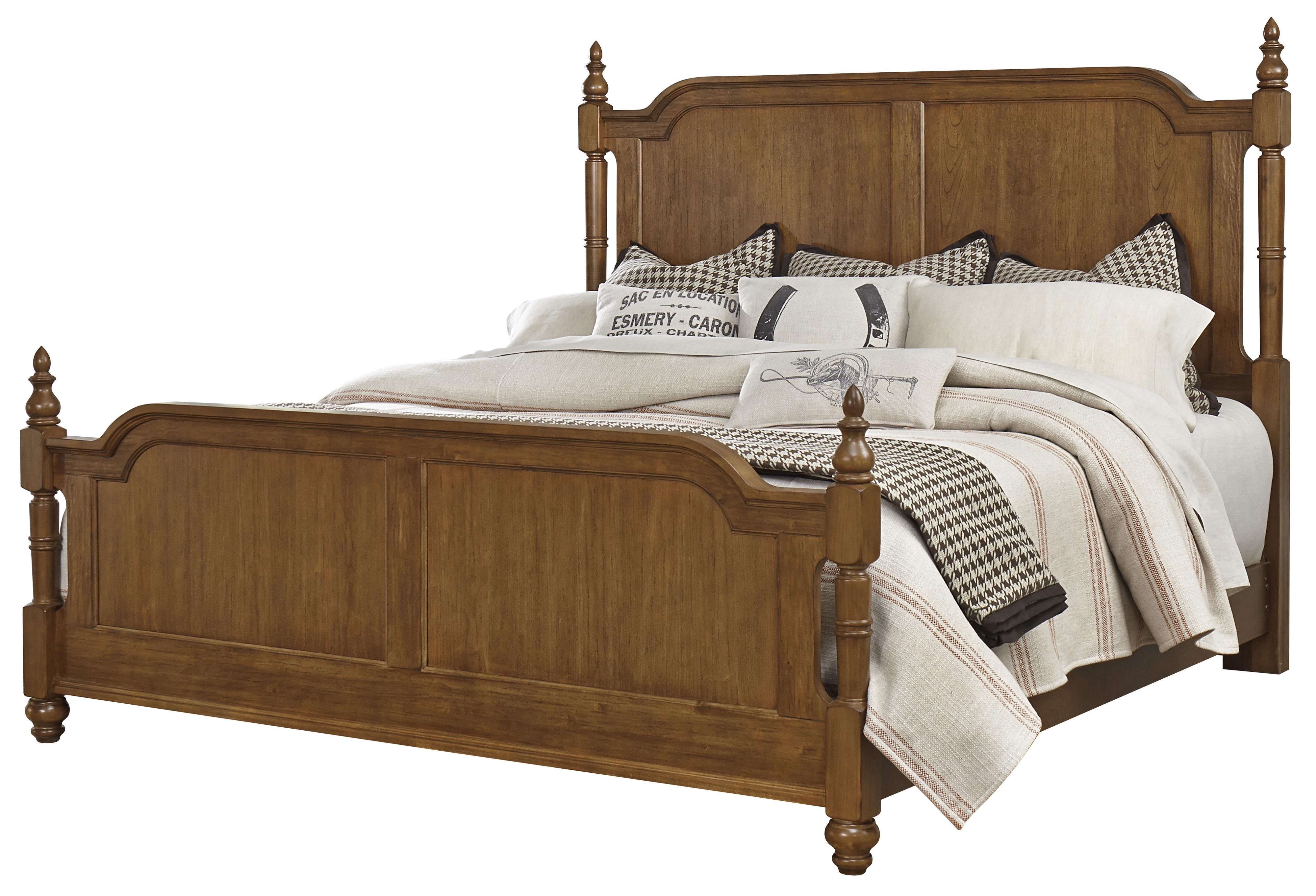 Arrendelle Transitional King Poster Bed By Vaughan Bassett At Knight Furniture Mattress Mattress Furniture King Poster Bed Howell Furniture
