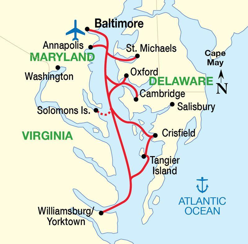 Chesapeake Bay Map | Maryland | Pinterest | Chesapeake bay, Cruise