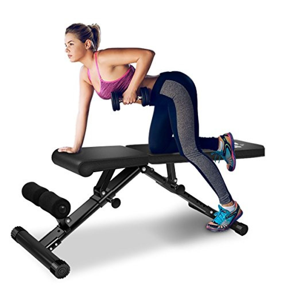 Foldable FLYBIRD Adjustable Bench,Utility Weight Bench For Full Body Workout