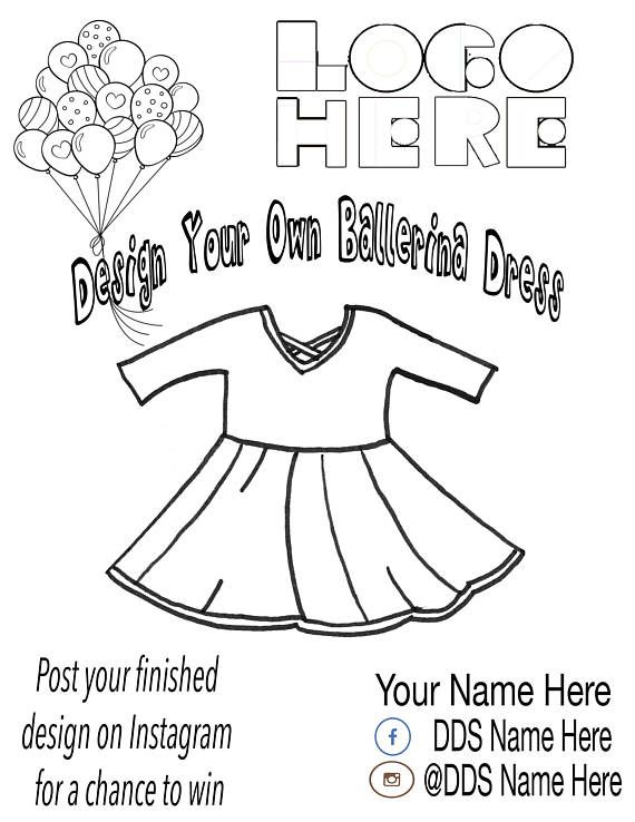 Design a Dress Coloring Page, Choose your Package