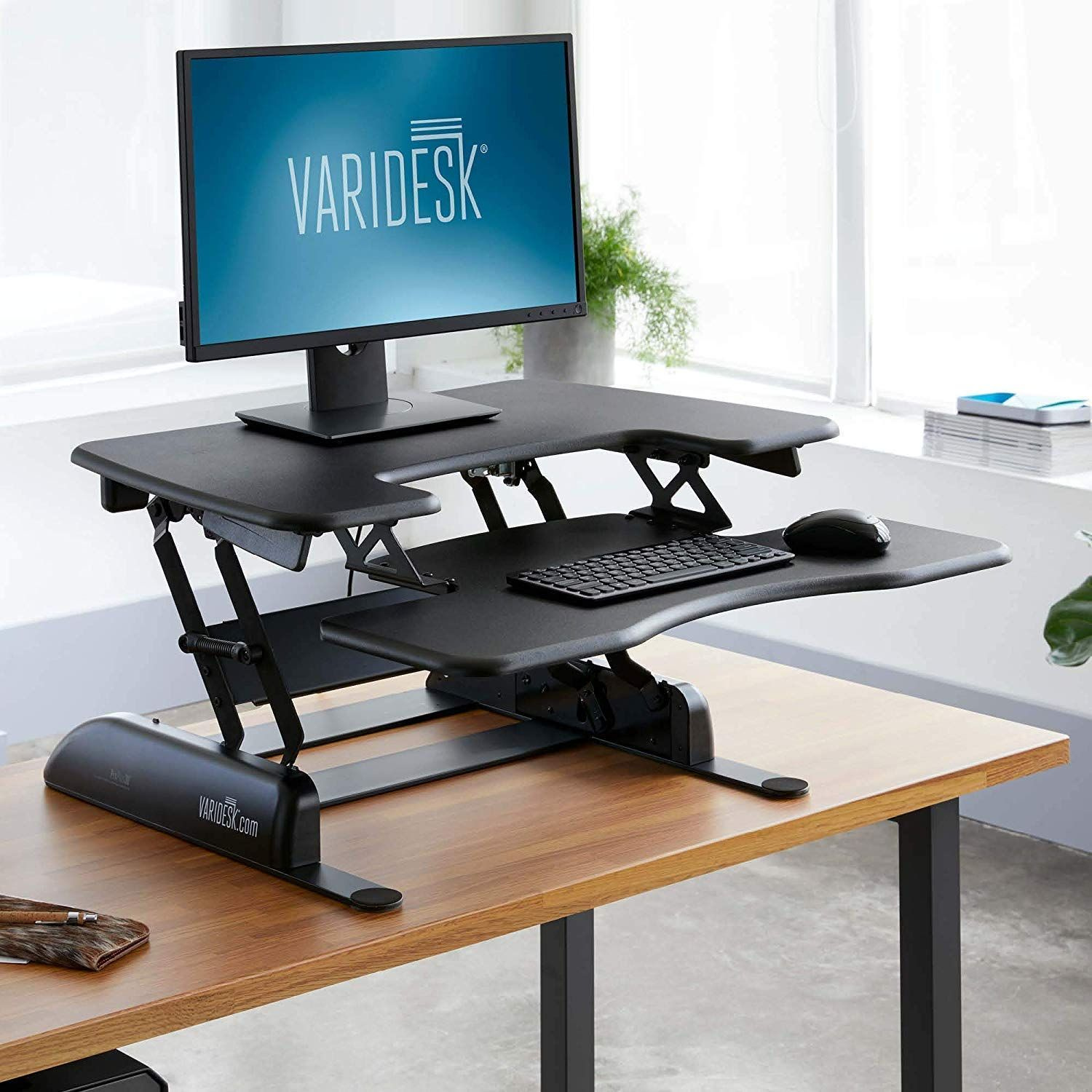 Amazon Com Varidesk Height Adjustable Standing Desk Proplus 30 Office Products Adjustable Height Standing Desk Adjustable Standing Desk Desk