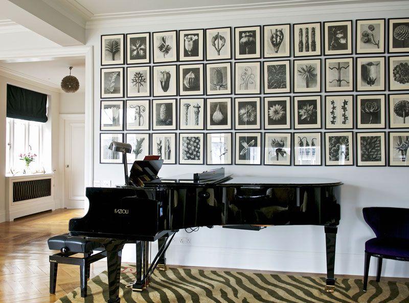 Bilderwand wohnzimmer ~ Die petersburger hängung petersburger hängung klavier und schwarzer
