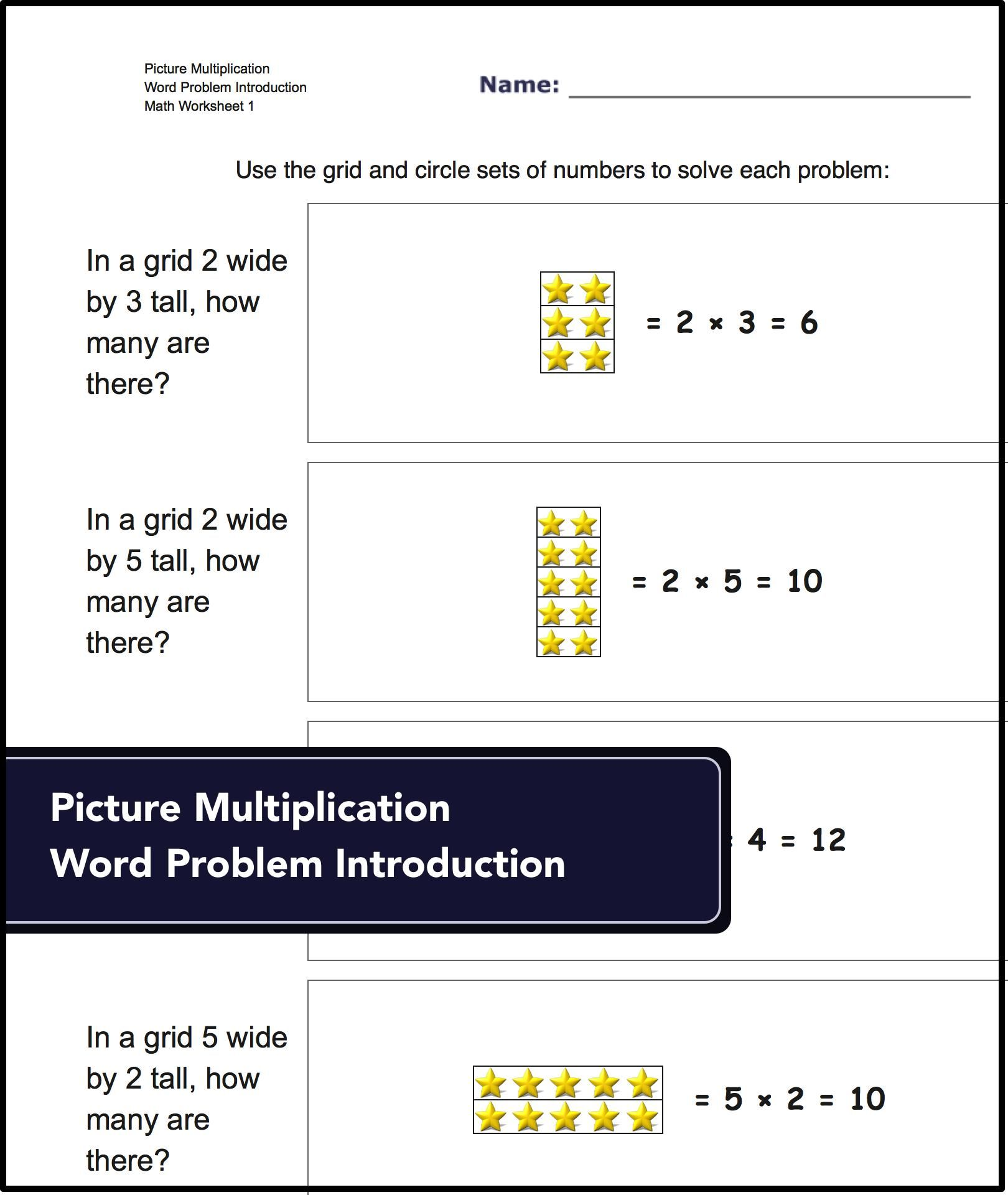 Picture Math Multiplication Worksheets With Answer Keys
