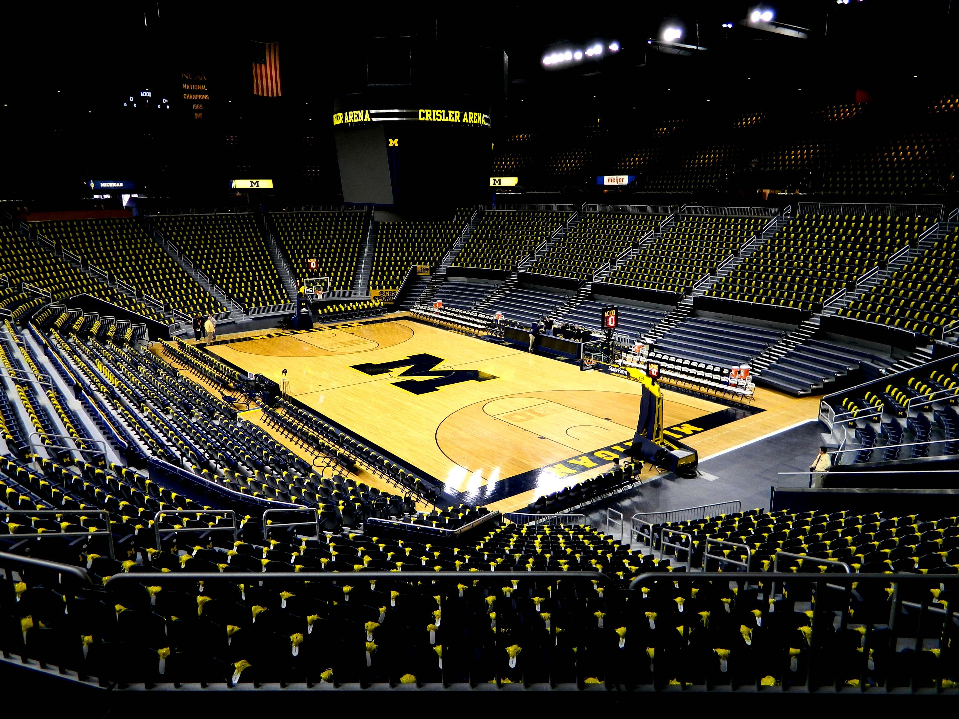 An Empty Of People But Full Of Pom Poms Picture At Crisler