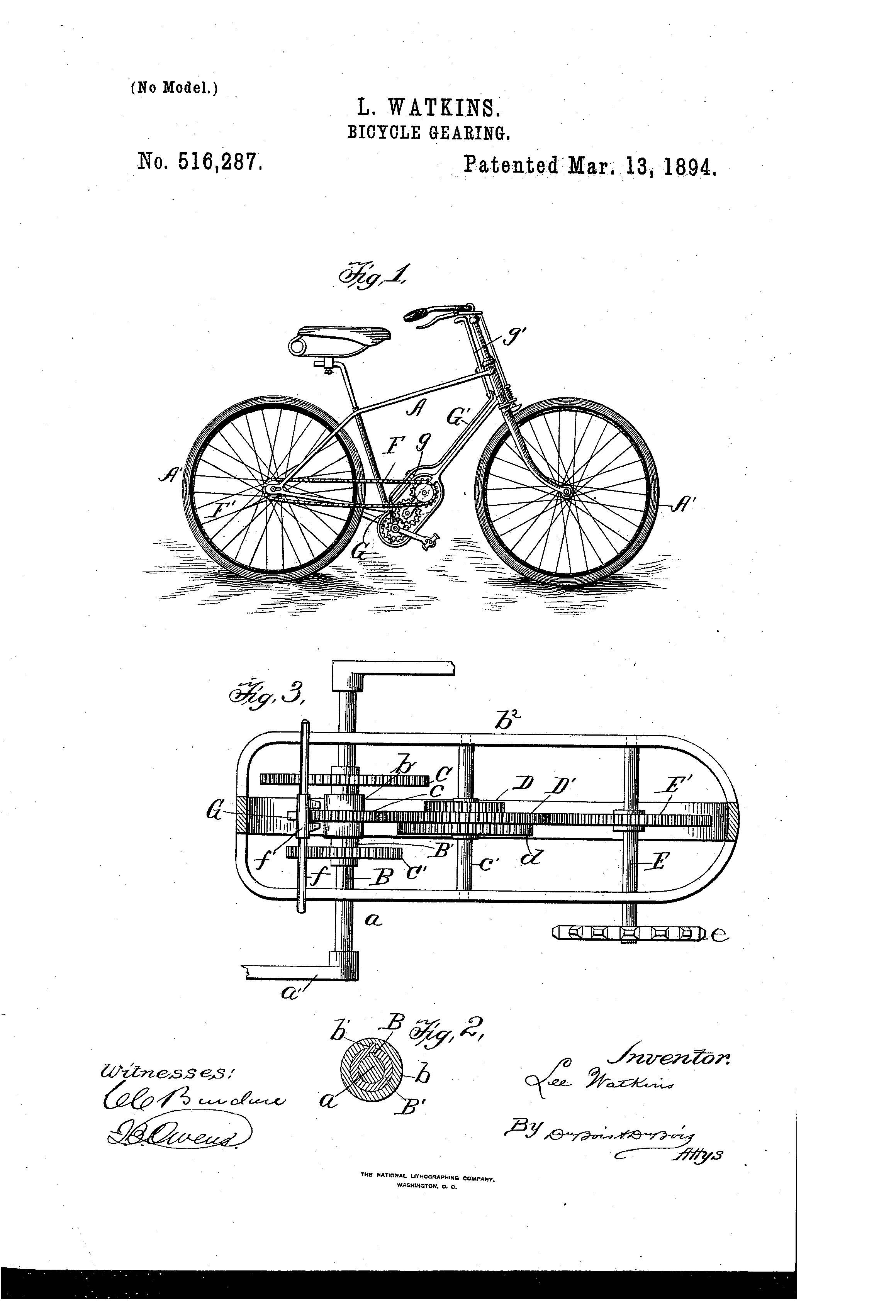Patent us516287 bicycle gearing google patents vintage patent us516287 bicycle gearing google patents malvernweather Image collections