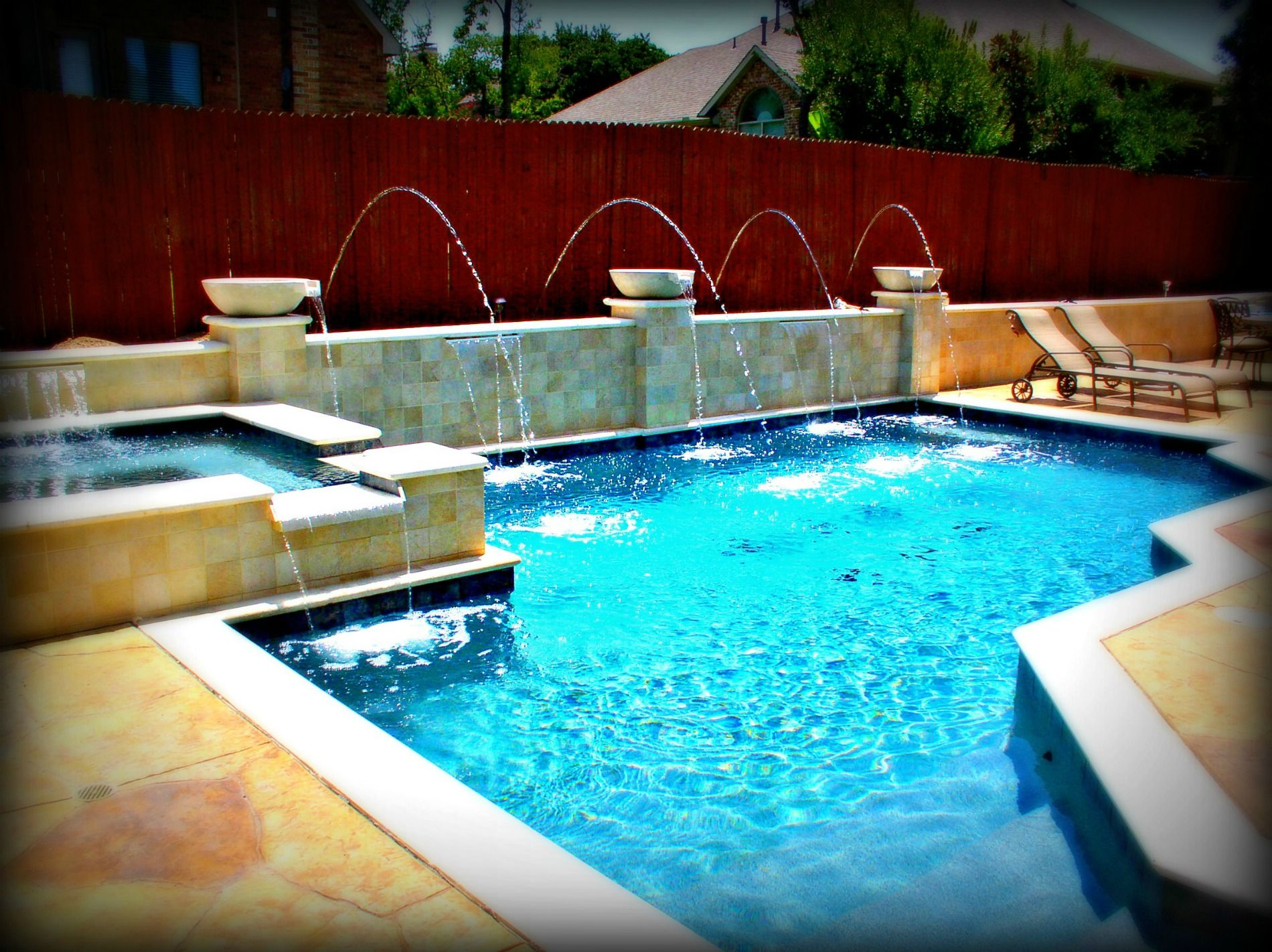 Geometric pools design samples by dallas fort worth for Custom swimming pools