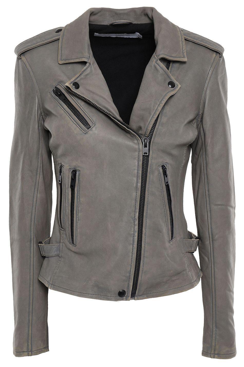 Shop onsale IRO Newhan washedleather biker jacket