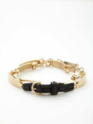 House of Harlow 1960  Gold Link Double Wrap Bracelet