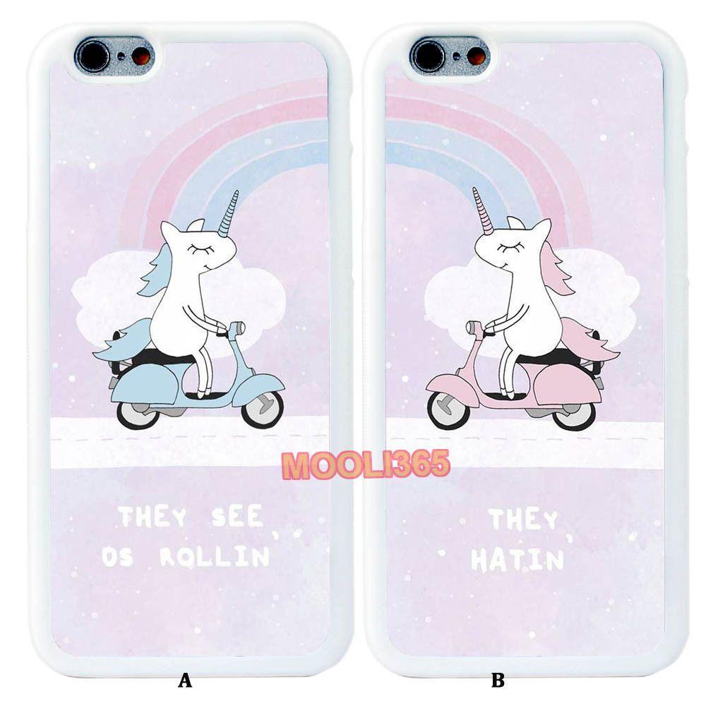 BFF Horse Unicorn Couple White Case Cover for iPhone 5s 6S 7   Samsung  Galaxy eb5c8b6e0d