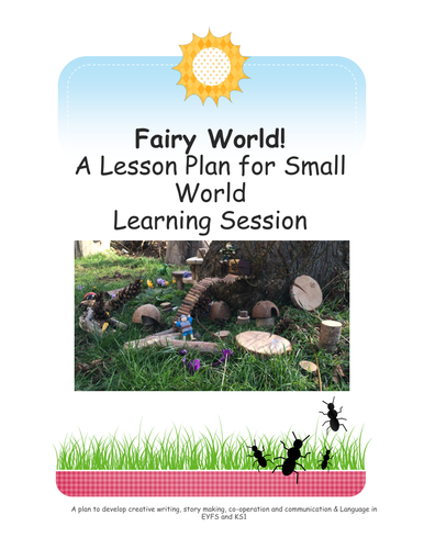 Fairy World.  Small World.  Outdoor Learning.  Forest School.