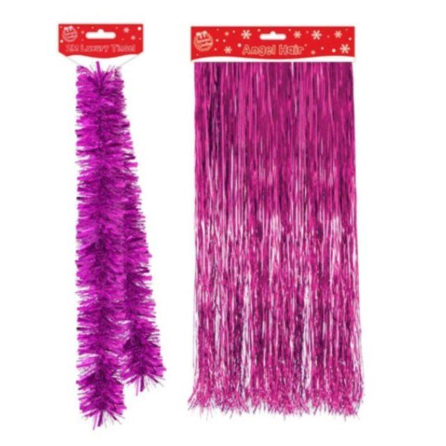 6.5 Ft 2m Luxury Thick Tinsel Christmas Tree Decoration Garland Gold xmas