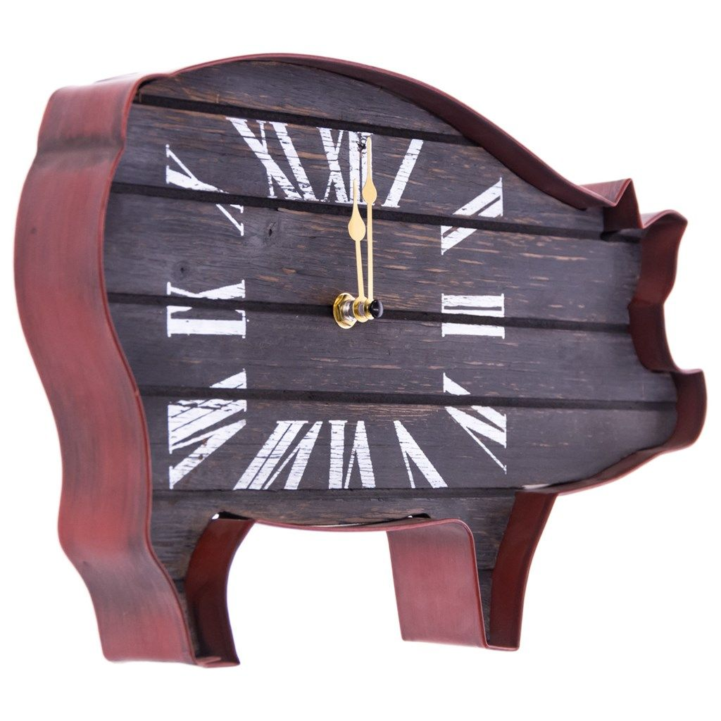 pig wall clock collections rooster cracker barrel old