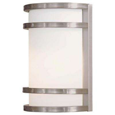 Bay View 1 Light Brushed Stainless Steel Outdoor Wall Mount Lantern