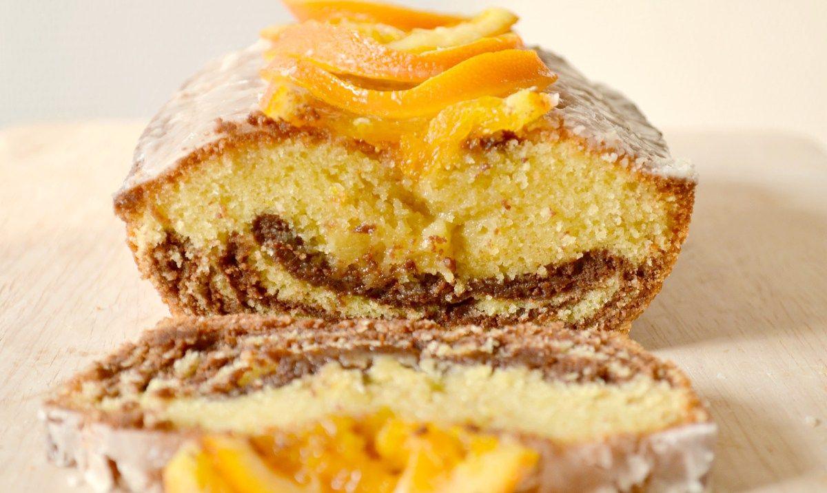 Quatre quarts breton marbr chocolat orange desserts - Recette quatre quart marbre ...