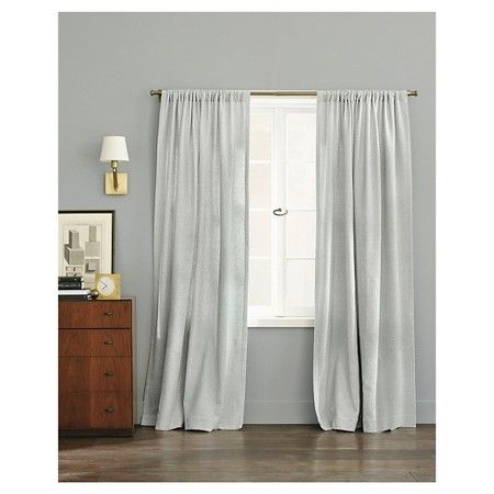 Woven Curtain Panel Gray