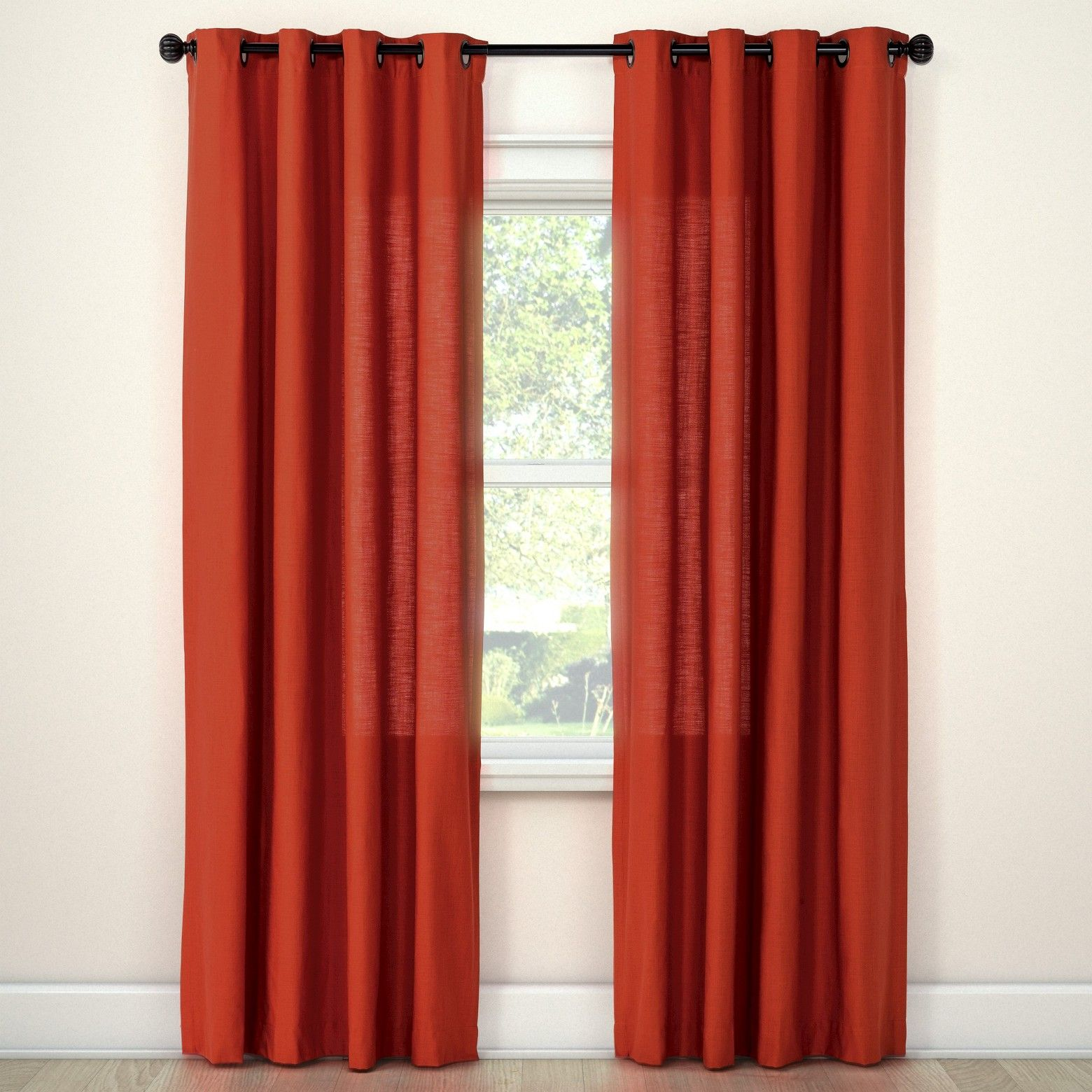 Natural Solid Curtain Panel Threshold Solid Curtains