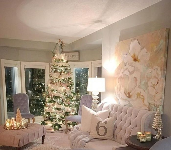 50+ Christmas Living Room Decor Small Spaces_15