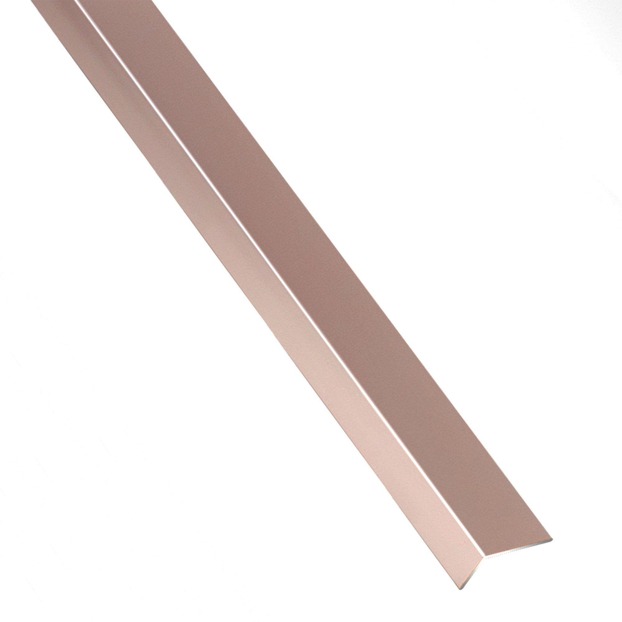 Cornière Inégale Aluminium Anodisé Orangecuivré L1 M X L