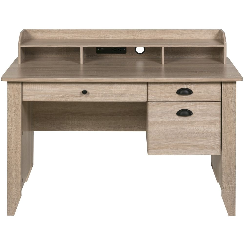 Onespace Executive Computer Desk Light Oak 50 1617lo Desks For Small Spaces Light Oak Desk Light