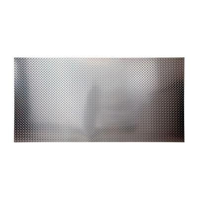 Fasade 96 In X 48 In Diamond Plate Decorative Wall Panel In Brushed Aluminum S66 08 The Home Depot Aluminum Wall Panel Pvc Wall Panels Vinyl Wall Panels