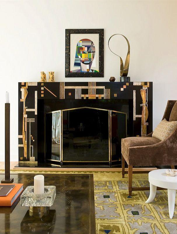 20 Art Deco Fireplaces Ideas Art Deco Fireplace Art Deco Deco