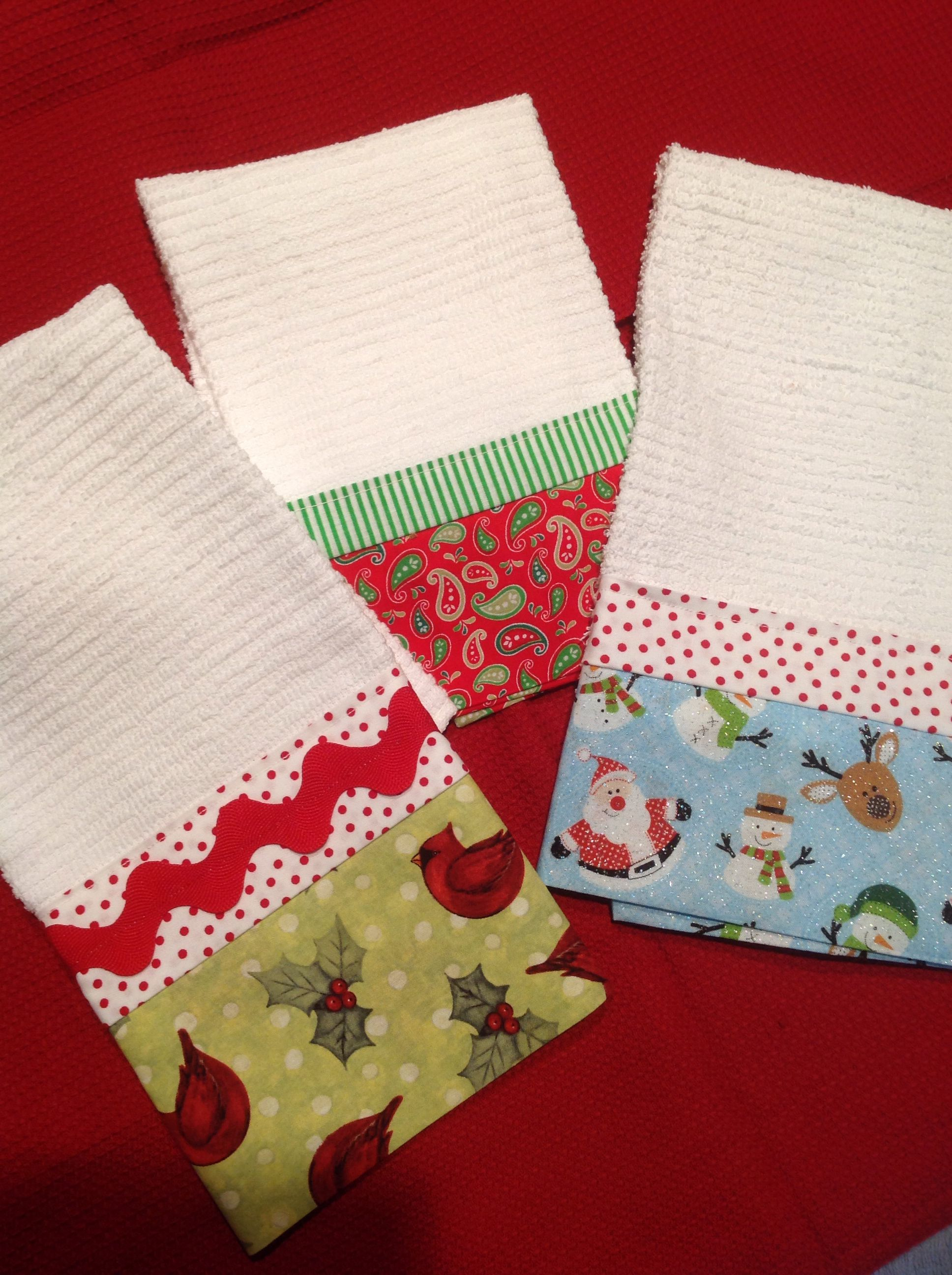 Christmas Tea Towels Towel Crafts Christmas Towels Sewing Projects