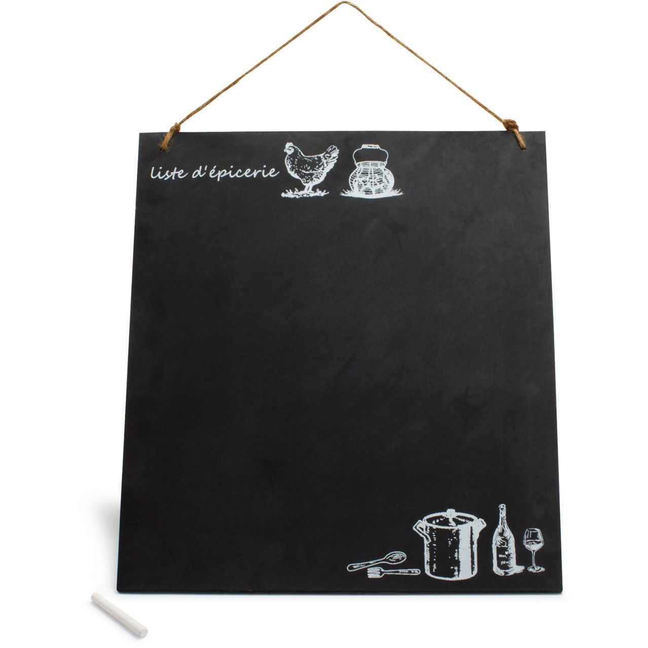 French Hen Chalkboard Grocery List | Sur La Table