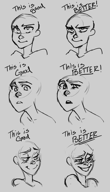 Facial Animation 101 Drawing Tips Sketch Book Art Reference Poses