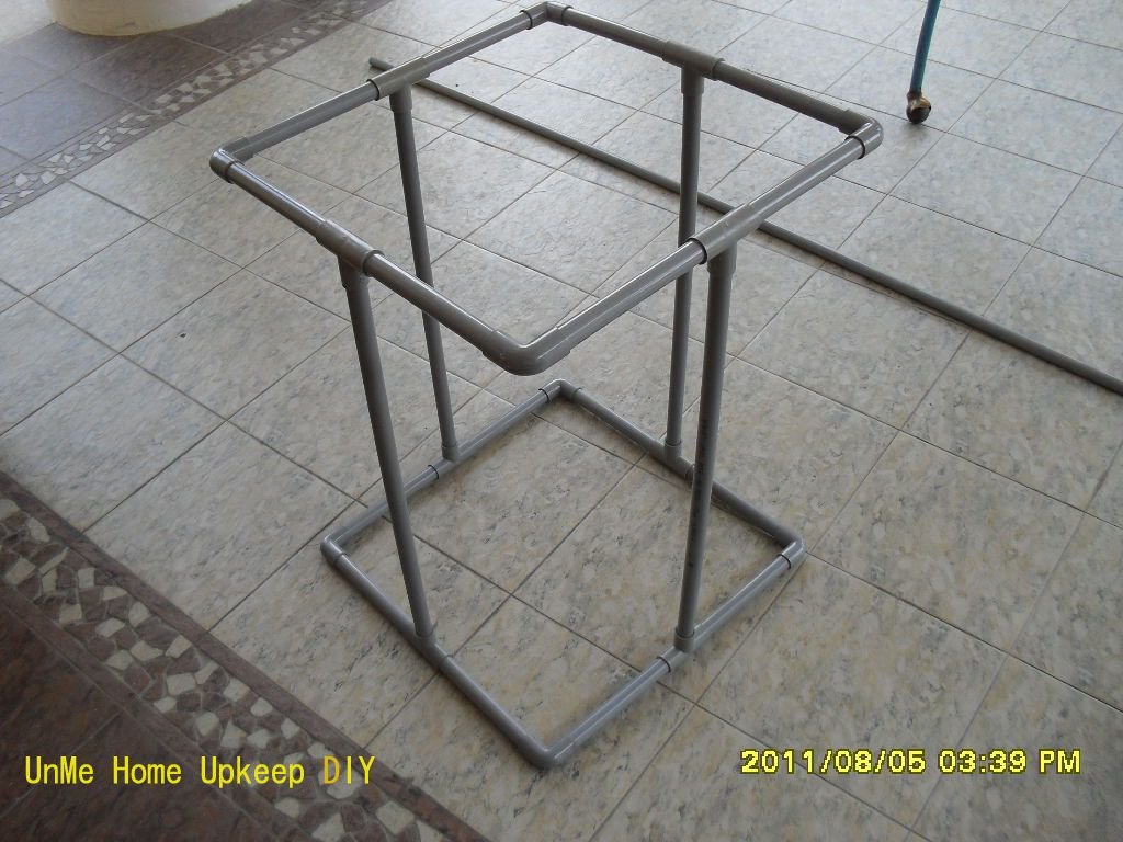 Attractive Pvc Trash Bag Holder | Completed Stand Without The Garbage Bag