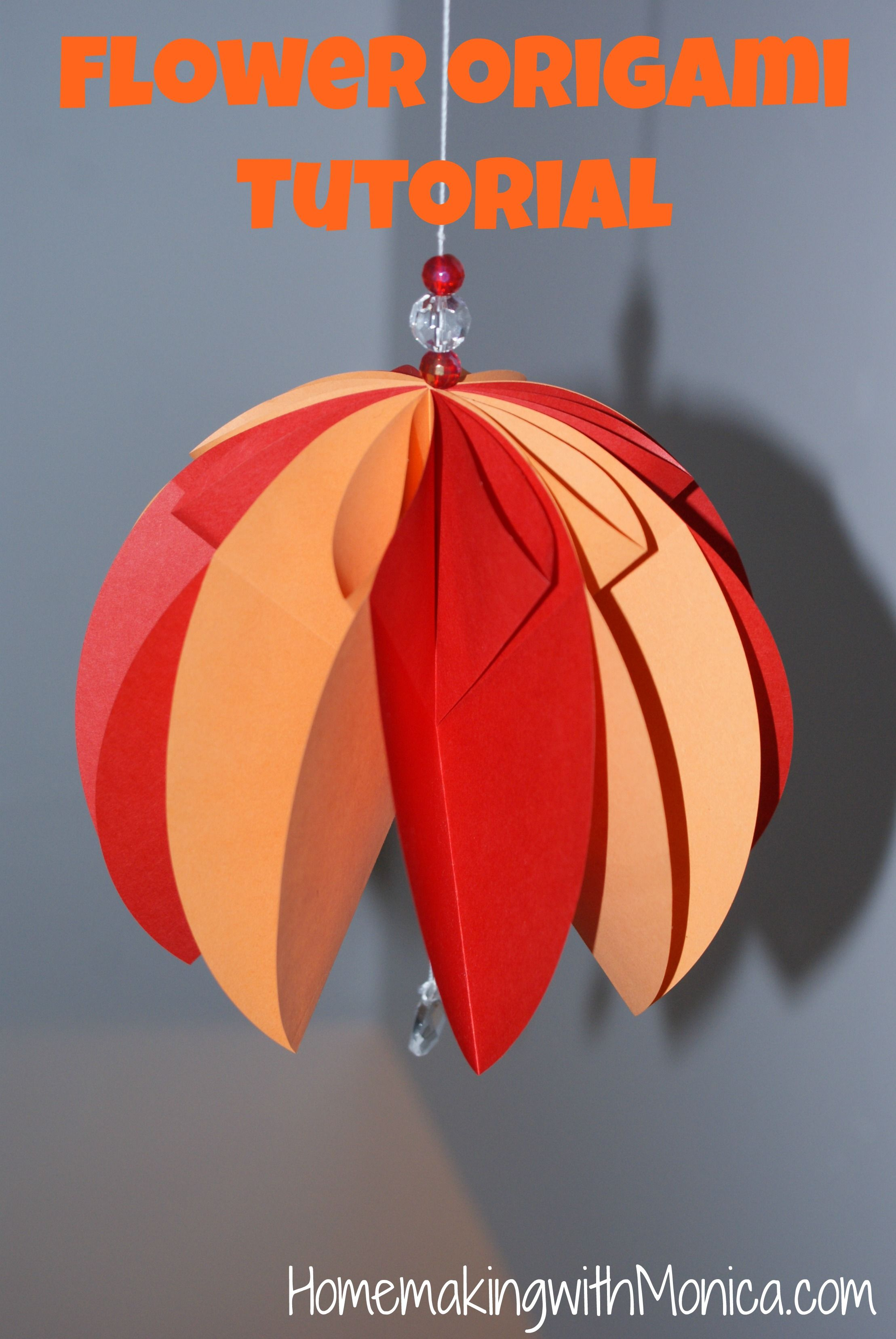 Hanging Origami Paper Flowers