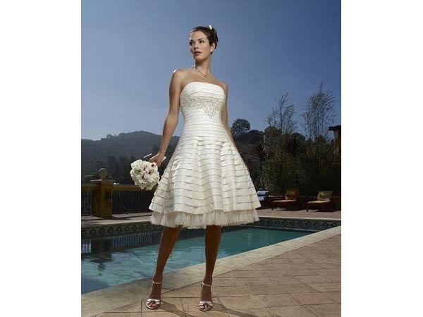 Vestido de novia para boda en la playa corte imperio | Vestidos dama ...
