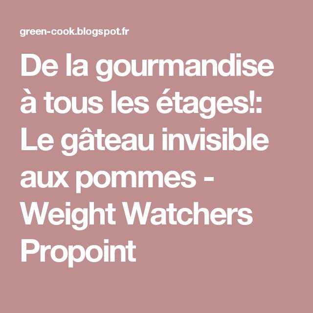 De la gourmandise à tous les étages!: Le gâteau invisible aux pommes - Weight Watchers Propoint