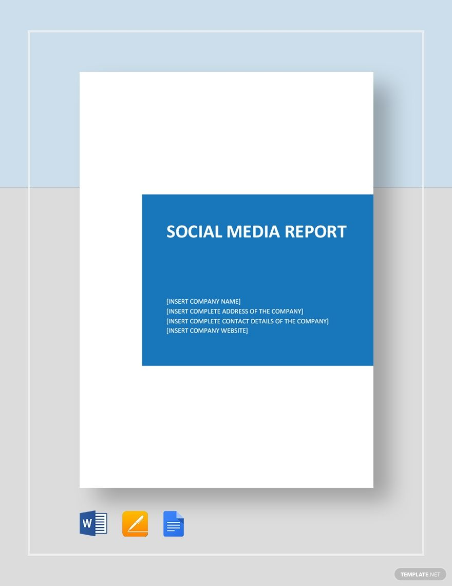 Social Media Report Template Free Pdf Google Docs Word Template Net Social Media Report Report Template Social Media Social media report template word