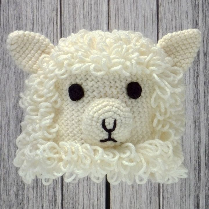 SHEEP ~ Crocheted Animal Hat ♢ Pattern in \
