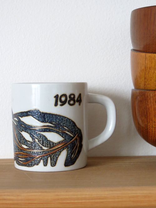 Small annual fajance mug 1984 by Royal by collectionsofvintage