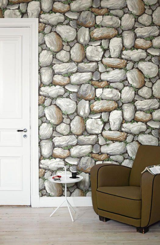 eco retro 1092 vlies wandbild natursteinwand gezeichnet fantasy