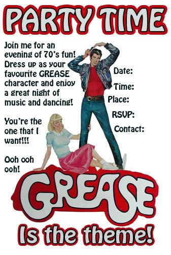 grease themed party help