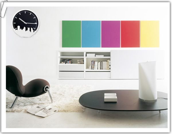 This sleek and modern clock surely fits for your office!